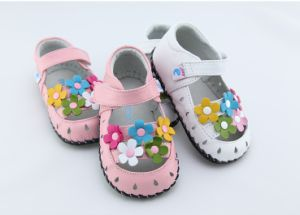 18-24M Freycoo Genuine Leather Soft Sole Kids Toddlers Girls Shoes Sandals Sz