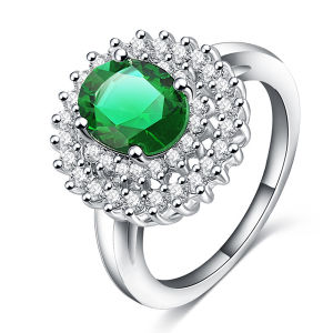 9k White Gold Peridot Gemstone Micro Settting Jewelry pictures & photos