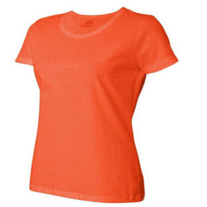 Slim Fit 100% Cotton Women T-Shirt pictures & photos