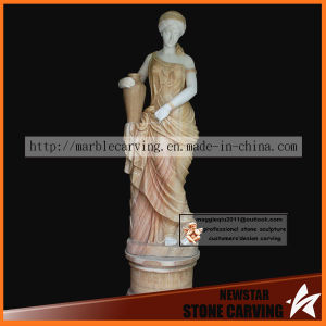 Outdoor Decoration Stone Women Statue of Color Marble pictures & photos