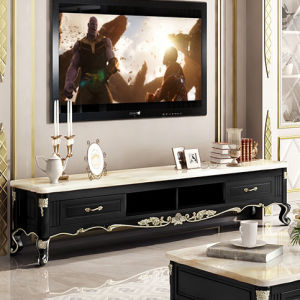 China Luxury European Marble Top Eco Friendly Paint Delicate Silver Tv Unit Wooden Modern Living Room Tv Cabinet Tv Stands Furniture China Wooden Modern Tv Cabinet Tv Furniture Living Room Cabinet