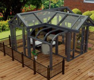 Aluminum Frame Tempered Glass Sunroom for Greenhouse Patio Rooms