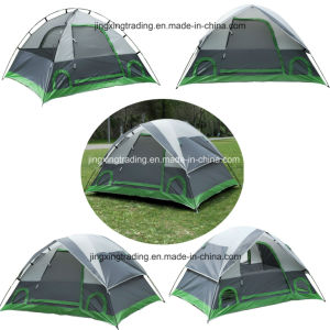 3-4 Persons Polyester Outdoor Camping Tent pictures & photos