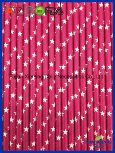 Eco Friendly Party Decoration Rose White Star Paper Straw pictures & photos