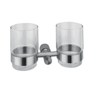 Durable Bathroom Accessory Stainless Steel Double Tumbler Holder (2110) pictures & photos