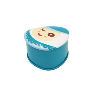 Metal Triangle Tinplate Box with Lovely Doll Printing (T001-V4)