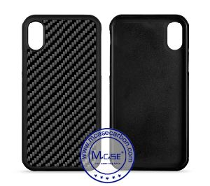 the best attitude 90558 1a80e for iPhone X Cases, Real Carbon Fiber Cell Phone Cover Soft TPU Case for  Apple iPhone X
