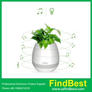 K3 Hot Sale New Item Touch Sensor LED Bluetooth Speaker Flowerpot, New Arrivial LED Light Flowerpot