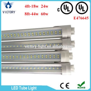 North American UL 4FT 8FT Clear Milky Cover 100-277V Single Ended Hot Tube UL T8 LED Tube Light pictures & photos