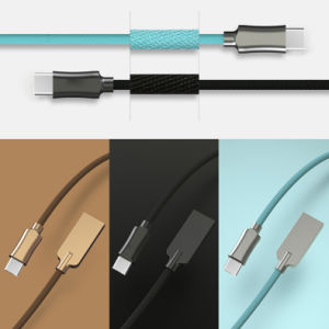 Colorful Type C USB Cable, Hoursing with Sewing Cloth