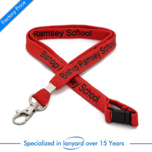 OEM Custom Screen Printed Promotion Lanyard as Gift pictures & photos