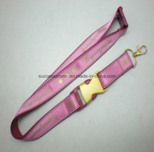 Promotion Polyester Lanyards with Printed Shiny Satin Sewed pictures & photos