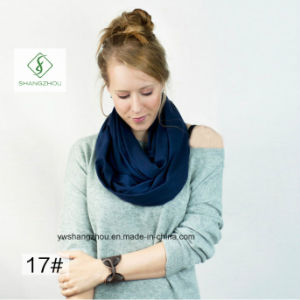 Europe Plain Cotton Neck Warmers Fashion Lady Scarf Factory pictures & photos