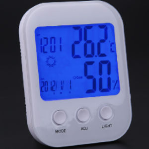 Home Room Digital Clock Desk Wake Alarm LCD Weather Calendar Thermometer Hygrometer pictures & photos