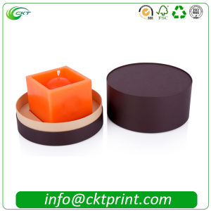 Cardboard Circle Candle Box for Small Gift (CKT-CB-1012)