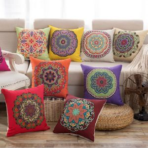 Decorative Faux Linen Texture Handmade Pillow Case Cushion Cover (DPF107144) pictures & photos