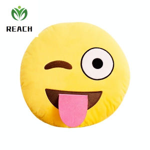 High Quality Soft Plush Emoji Pillow Promotion Gift