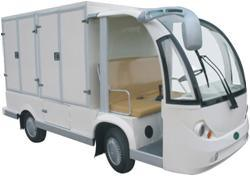 Electric Food Delivery Car, 2 Seat Electric Truck with Cargo Box pictures & photos