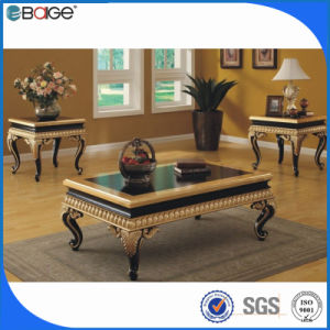 China Luxury Royal Antique Wooden Gold Coffee Tables China Gold