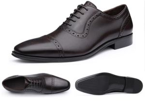 Fashion Dress Men′s Genuine Leather Shoes pictures & photos