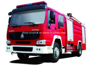 Professional Supply Water & Foam Fire Trucks Fire Fighting Truck Fire Fight Truck with 5m3+2m3 Tank Size pictures & photos