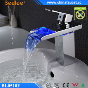 Beelee Bathroom Basin Waterfall AC/DC LED Water Faucet