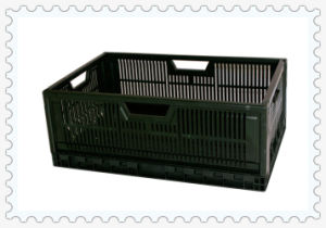 Foldable Supermarket Plastic Box Storage, Foldable Plastic Box Storage with Outside Size 600X400X 235mm