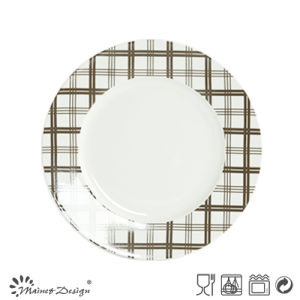 Scottish Check 16PCS porcelain with Decal Dinner Set pictures & photos