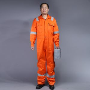 88%Cotton 12%Nylon Fire-Retardent Coverall with Reflective Tape (BLY1014) pictures & photos
