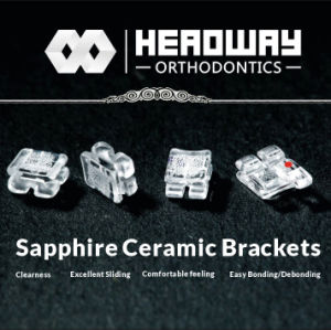 Hot Sale Orthodontic Sapphire Ceramic Bracket with Ce & FDA