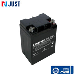 12V 24ah AGM Sealed Gel Battery Black pictures & photos