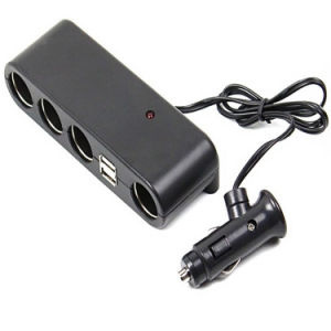 a Cigarette Lighter with Four / USB/ Car Charger pictures & photos