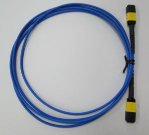 MPO-MPO Om3 Optic Fiber Cable pictures & photos