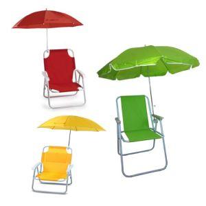 Comfortable Children Folding Beach Chair With Umbrella Sp 141