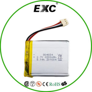 2200mAh 3.7V 804654 Rechargeable Lithium Polymer Battery with Exc pictures & photos