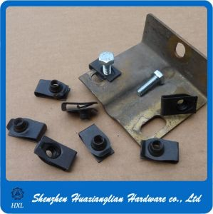 China Fasteners Suppliers Black Steel U Type Speed Clip Nuts