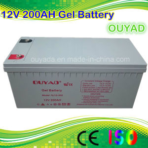 Long Life Span 12V 200ah Solar Rechargeable AGM Gel Battery pictures & photos