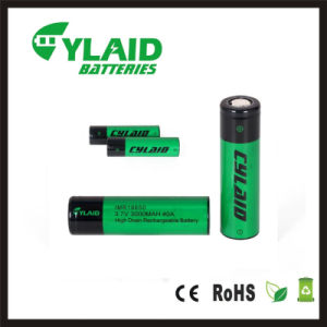 Factory Price of Vaporizer Batteries Cylaid Imr 18650 3000mAh High  Discharge Rate Battery 3 7V 40A Batteries