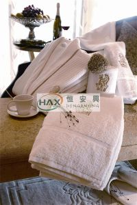 Dobby Border 100% Cotton Hotel Bath Towel