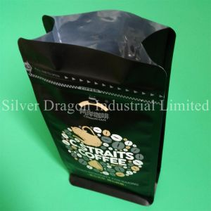 Side Gusset Plastic Coffee Bean Bag with Zipper pictures & photos