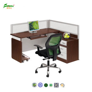 2015 Wood Office Desk Connect by Double Steel Support Office Furniture pictures & photos