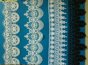 100% Polyester Water Soluble Embroideried Wedding Lace Chemical Lace pictures & photos