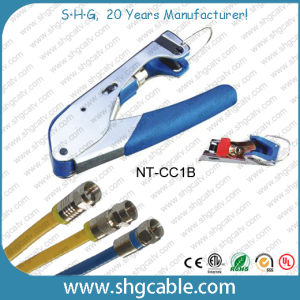 Compression Tool for Coaxial Cable RG6 Rg59 F Compression Connector pictures & photos