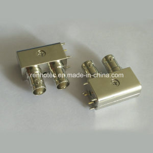 R/a 75 Ohm Zinc Alloy 3G HD Sdi Dual Female BNC Connector pictures & photos
