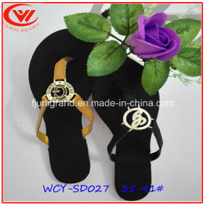 Ladies Flat Heel Slipper Casual Sandals for Girls pictures & photos