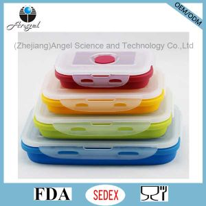 FDA Approved Silicone Food Box Foldable Food Storage Sfb10 (350ML)