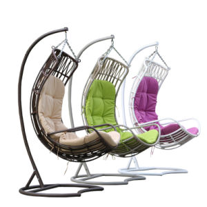 Garden Furniture Hanging Chair Wicker Egg Chair Outdoor Rattan Swing (D010) pictures & photos