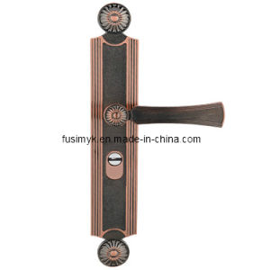 Fusim High Quality Red Bronze Door Handle (FA-6027LL) pictures & photos