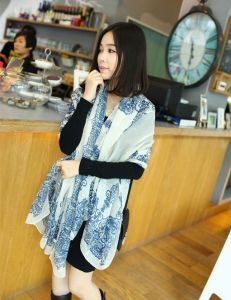 Spring Autumn Fashion Long High Copy Silk Scarf pictures & photos