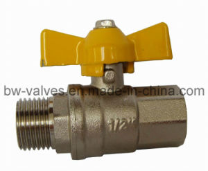Brass Gas Ball Valve with Butterfly Handle (BW-B137 FxM) pictures & photos